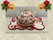 Royal Albert Old Country Roses Ruby Celebration Pink Chintz Sugar Lid Bowl Plate