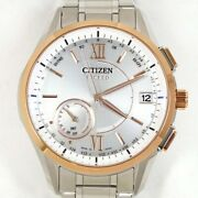 Citizen Exceed Cc3054-55a /f150-t022723 Gps Solar Radio Wave Mens