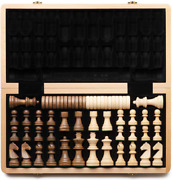 Aa 15 Wooden Chess Checkers Set / Folding Board / 3 King Height German Knig