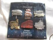 Disney Pin Dlr Annual Passholder Tour The Lore Attraction Vehicles Set Monorail
