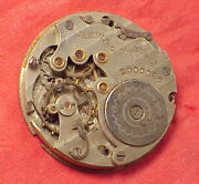 Vintage 17j New England Lady Mary 0s 29mm Pocket Watch Movement Rare Relic