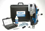 Hougen Hmd904 115 Volt Magnetic Drill With Coolant Bottle Plus 1/2 Drill Chuck