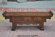 25rare Old Chinese Royal Huanghuali Wood Hand-carved Drawers Desk Cabinet Table