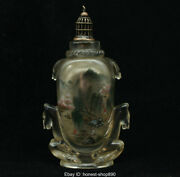 Old Chinese Colored Glaze Inner Painting Horse Landscape Palace Snuff Bottle