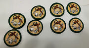 2001-11 Girl Scout Junior Careers Badge Jobs Hat Gavel Wrench Patch Lot Of 8