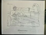 Vintage Rare Original Pablo Picasso Hand Signed In 1973 Gallery Owner Sells