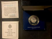 1983 100-lei Proof Sterling Silver Coin Of Romania Franklin Mint