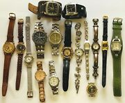 15pc Fossil Watch Lot W/ 1 Relic Menand039s And Womenand039s For Parts Or Repair
