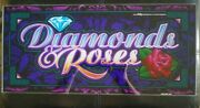 Diamond And Roses Casino Belly Glass Ballys 1996