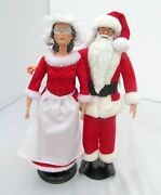 2 Mr And Mrs Santa Claus Barbie Doll Ooak Susan B Anthony Christmas Holiday Decor