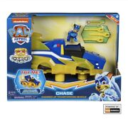 Paw Patrol Mighty Pups Charged Up Chase Transforming Deluxe Vehicle With Lig...