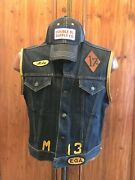 Motorcycle Gang 557 Type Iii Jeans Jacket Vest 60and039s Xl W/ Rrl Hat Cap