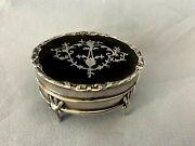 Antique Fine English Edwardian Sterling Silver Jewelry Trinket Box Active