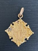 Medaille Religieuse Or 18k Gold Medal Marie Vierge 25grs