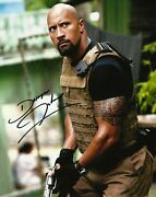 Dwayne Johnson Reproduction Signature 8.50 X 11 Photo Free Clear Top Loader.