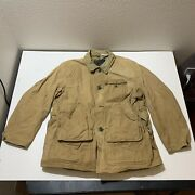 Vintage 1950s Sears Jc Higgins Canvas Hunting Chore Brown Barn Menandrsquos Size L