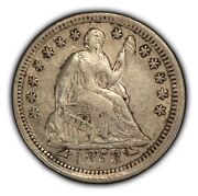 1853 Arrows H10c Seated Liberty Half Dime - Some Luster - Xf Coin - Sku-b1276