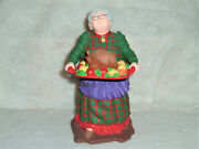 Dept 56 All Through The House Aunt Martha With Turkey And Glasses 9317-3
