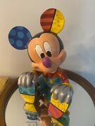 """Britto Disney Enesco Large Mickey Mouse Limited Edition,4038474,rare Retired 16"""""""