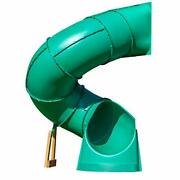 Backyard Discovery Tall Spiral Tube Slide - Left Exit Green - Mounts To 5 Ft. D