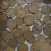 1909 Lincoln Wheat Cent Roll 50 Circulated Pennies Us Coins