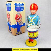 Mechanical Drummer Rare Blonde Drumming Parade Soldier J. Chein And Co. See Movie