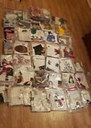 Mixed Lot Of Modern And Vintage Fabric Sewing Kits. Quilting Crafting Christmas