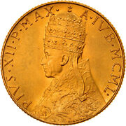 [908067] Coin, Vatican City, Pius Xii, 100 Lire, 1950, Ms65-70, Gold, Km48