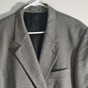 Ba110 Mint Arnold Brant Pure Cashmere Black And White Houndstooth Blazer - 44r