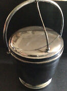 Bernard Rice And Sons Apollo Hinged Lid Silver Plate Glass Lined Ice Bucket-read
