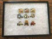 Lot Of 9 Vintage Ford Trucking Truck Watch Fob Enamel With Showcase