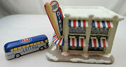 Chicago Cubs Cubbies Diner Hawthorne Village Christmas Display 2004 With Bus
