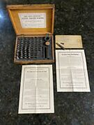 Antique New Century 1910 Steel Tooth Forms Set Dental Dentist Funeral Mortician