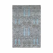 5'x8'1 Cypress Tree Design Silk With Textured Wool Hand Knotted Rug G66856