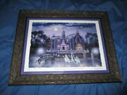 Haunted Mansion Disney Signed Art Giclee Larry Dotson 13 50th Anniversary Ed.