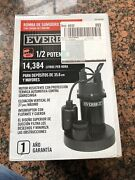 Everbilt 1/2 Hp Submersible Sump Pump With Tether Sba050bc Pool Pond Transfer