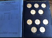 1941 - 1947 Uncirculated Walking Liberty Silver Half Dollar Complete Collection
