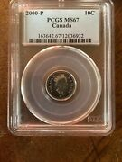 Very Rare Canada 2000p Dime 10 Cent Coin Ms67 Very Rare Mintage 250