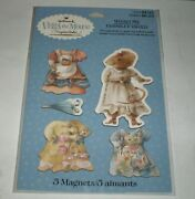 Vera The Mouse Unique 5 Magnets By Marjolein Bastin For Hallmark New On Card