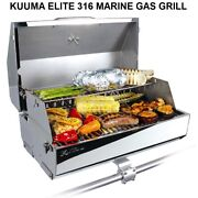 Kuuma Elite 316 Gas Grill With Built-in Thermometer And Piezo Igniter