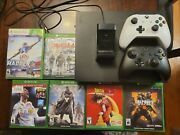 Xbox One X Two Controllers Charger And Games