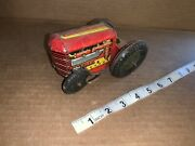 Vintage Marx Tin Litho Wind-up Tractor For Parts Or Repair