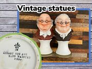 Vintage Arnart 5th Ave Hand Painted Figurines 2035 Made In Japan Hummel Style.