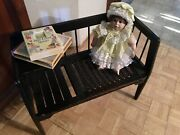 Vintage Gossip Bench Telephone Table Entry Bench Chair Blackandnbsp