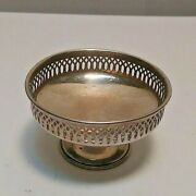 Vintage Wallace Sterling Reticulated Mini Compote Salt Candle 1 1/4 13.5 Gg 3