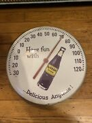 Nice Rare Nugrape Advertising Thermometer Sign 12andrdquo Glass