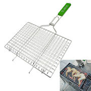 Barbecue Fish Grilling Basket Vegetables Meat Foldable Grill Net Accessories
