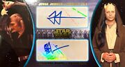2016 Topps Star Wars Attack Of The Clones 3d Widevision Dual Auto 1/2