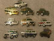 Lot Of 10 Vintage Ford And Chevrolet Pick Up Trucks And Van Pocket Watch Fobs Fob