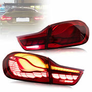 For 14-20 Bmw F32 F33 F36 F82 F83 Led Tail Lights W/sequential Indicators Pair